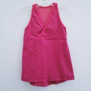 Lululemon Hot Pink Plunge Sleeveless Mesh Tank